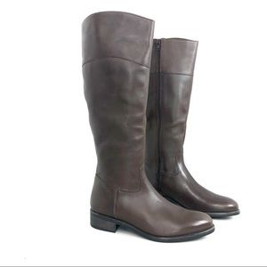 Italian Shoemaker Brown Knee High Boots Size 9.5M